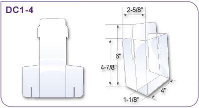 six pack holder template - free standing die cut vinyl literature and brochure holder