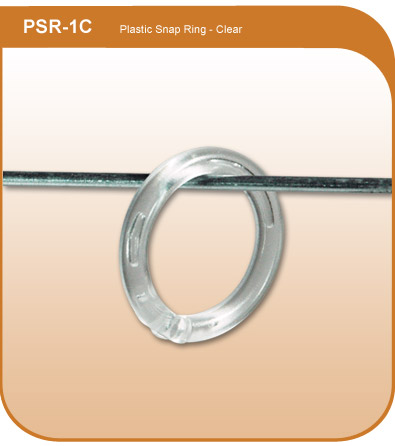 1quot clear plastic snap display ring